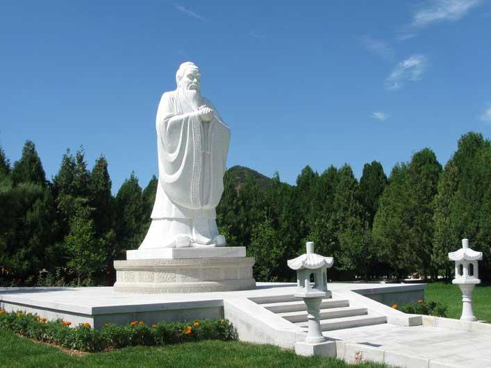 孔子雕塑、圣人教化